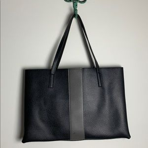Vince camuto black gray luck tote